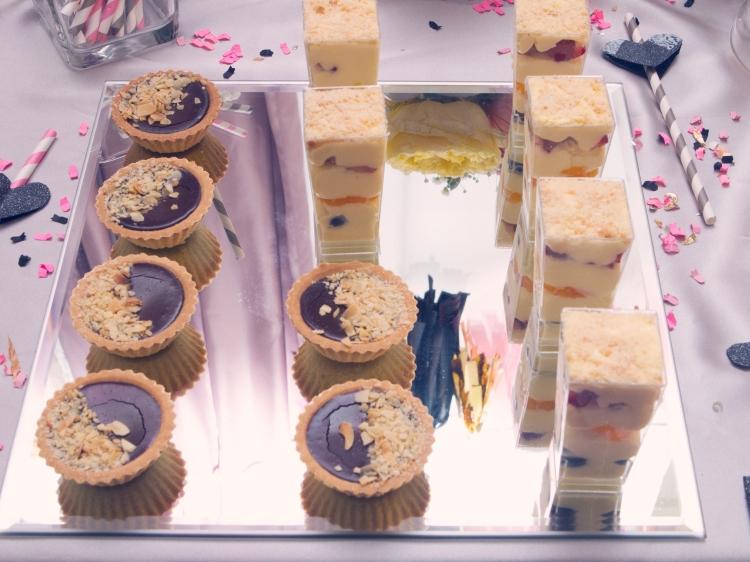 mini desserts at tea