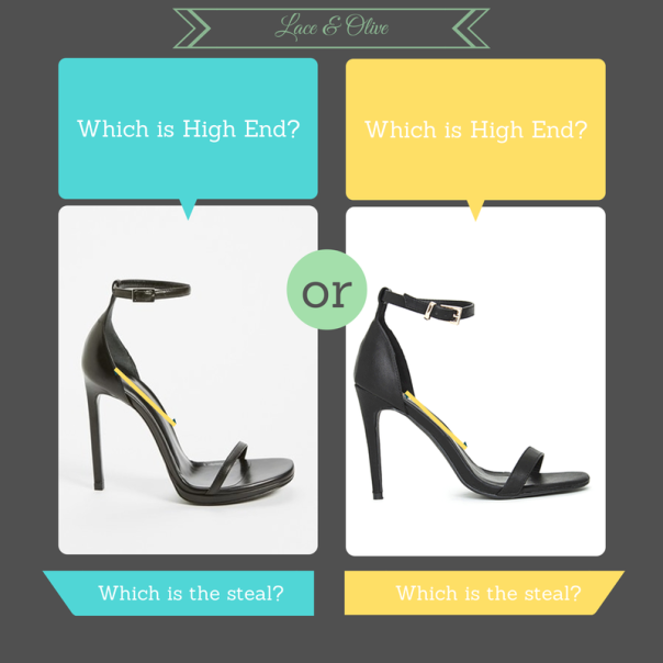 Comparison between YSL Jane Sandals and MissGuided Clara Strappy Sandals