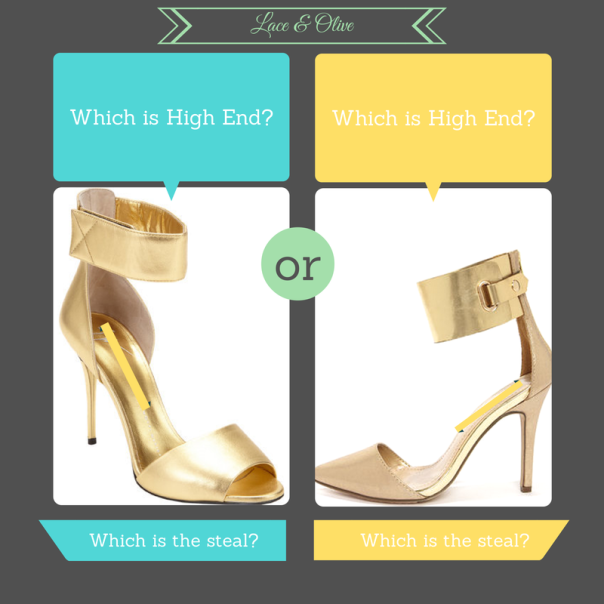 High End: Giuseppi Zanotti VS Steal: Lulu's Ines 11 Gold Ankle Cuff