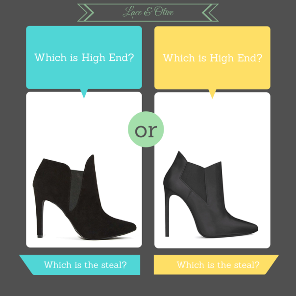 Black Ankle bootie with YSL Chelsea and Shoe Cult Stab in the Dark -which one is the real deal?