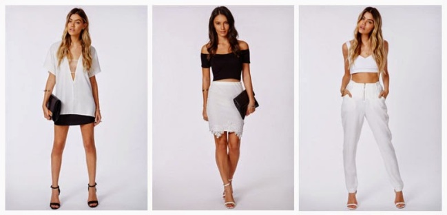 Three monochrome black and white looks with the Clara heel from Missguided