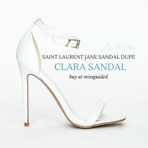 White Clara Sandals from MISSGUIDED