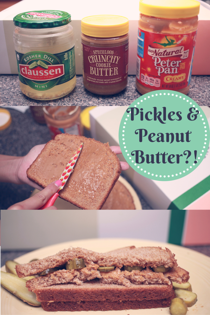Peanut butter, cookie butter, and pickle sandwich. Is there anything better? #laceandolive