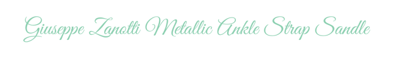 Title Giuseppe Zanotti Metallic Strap
