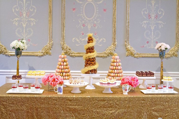 Parisian dessert table